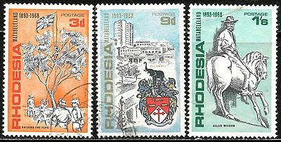 Rhodesia 1968 Matabeleland Vf Used Complete Set 0658
