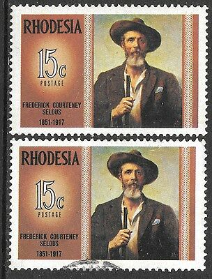 Rhodesia 1970 Famous Rhodesians Frederck C Selous Mnh & Used 1717