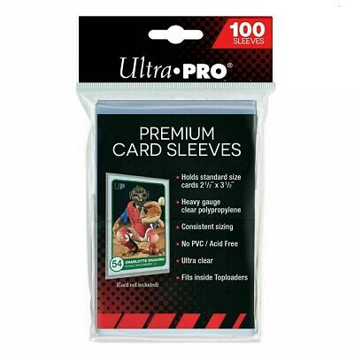 Ultra PRO Platinum Premium Card Soft Sleeves Clear Protector 15 x Packs of 100