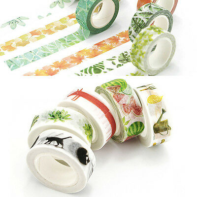 1.5cm×7M DIY Paper Sticky Adhesive Sticker Masking Decorative Washi Tape Decals