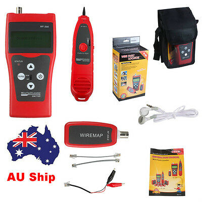 AU Ship NF-308 LCD Ethernet LAN Phone Tester Cable Wire Tracker Scanner RJ45/11