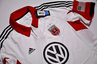 DC United Trikot Away Tgl M L XL Adidas MLS Jersey 2013 USA Calcio Washington
