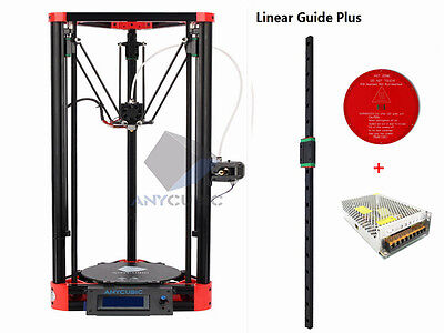 Anycubic Kossel 3D Printer PLUS Linear Rail unassemble Big Printed Size DIY Red