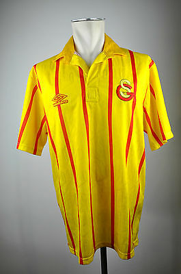1992-93 Galatasaray Istanbul #9 Home Tricot Jersey Size L classic vintage Umbro
