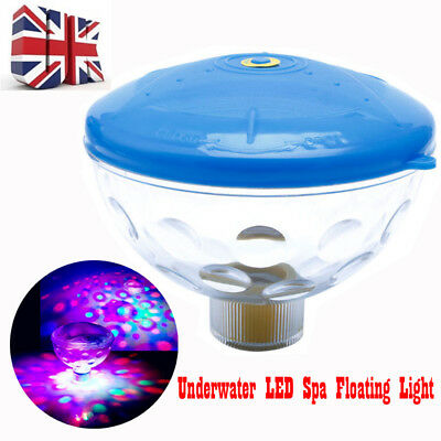 Floating Underwater LED Disco Light Spa Glow Show Pool Tub Party Lamp Pond UK