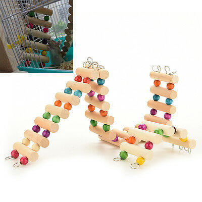 Flexible Wooden Mouse Hamster Ladder Crawling Bridge Pet Parrot Bird Play Toys