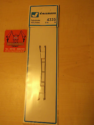 Viessmann N 4335 Contact wire 103,5 mm 5 pieces new in orig. box