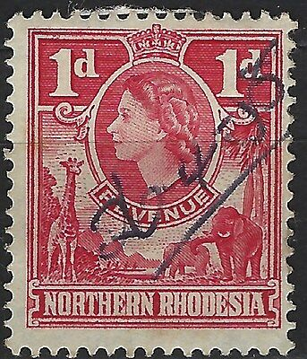 Northern Rhodesia 1953 Revenue Fiscal Used Stamp 0413