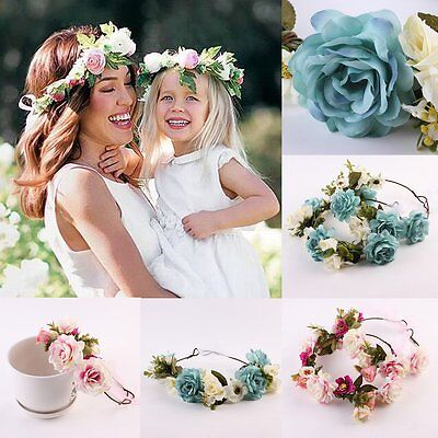 Fashion Women Girl's Flower Head Hollow Elastic Hair Band Headband Wedding Party