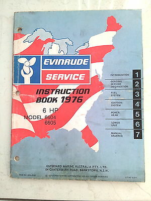 Service Manual Evinrude 1976 6 HP