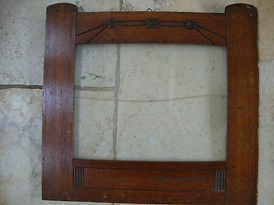 "Art Nouveau/arts And Crafts Picture Frame-Oak Marked ""manne Und Minne"""