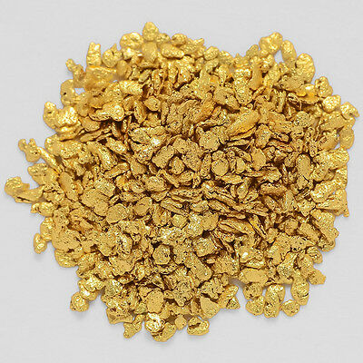 0.9806 Gram Alaska Natural Gold Nuggets / Flakes -(#04166)- Hand-Picked Quality