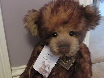 "Charlie Bears Isabelle Lee Retired, Limited Edition ""Nuzzle"" 16"" Mohair Bear"