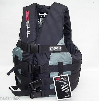 Gul M Impact Vest Life Jacket Buoyancy Aid 4 Buckle Jetski Waterski Black / Grey
