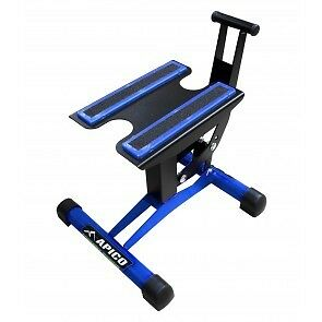 apico xtreme motocross enduro trials lift jack up bike work stand  blue