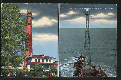 tolle AK Atlantic City, N.J., A famous Lighthouse and Beacon