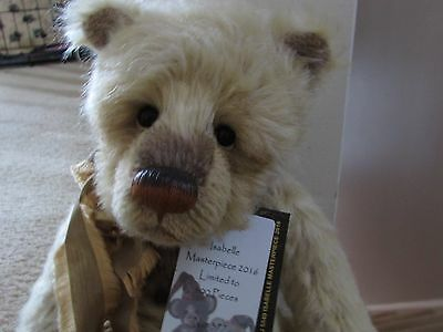 "Charlie Bears Isabelle Lee 2016 16.5"" Masterpiece Mohair Bear"