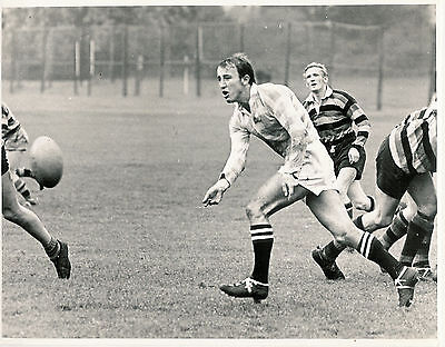 "JACKO PAGE CAMBRIDGE UNIVERSITY, NORTHAMPTON & ENGLAND RUGBY PHOTOGRAPH 8"" x 6"""