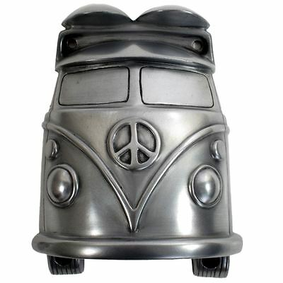 Bottle Opener Beer Buddies Resin Outdoor BBQ VW Camper Wall Mounted Silver