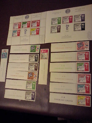 PARAGUAY 1961 EUROPA complete set: 7 perforated + 7 imperforated + 2 sheets MNH