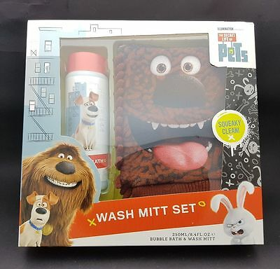 The Secret Life Of Pets Duke Wash Mitt Bubble Bath Childrens Gift Set