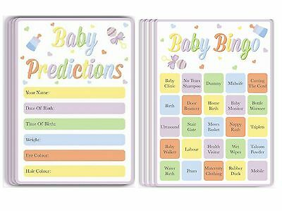 Prediction Bingo Cards Baby Shower Games Girl Boy Neutral Activity Party Game