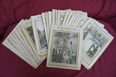 The WAR ILLUSTRATED WW2 Vol 9, 25 magazines, May 1945 - April 1946, no's 206-230