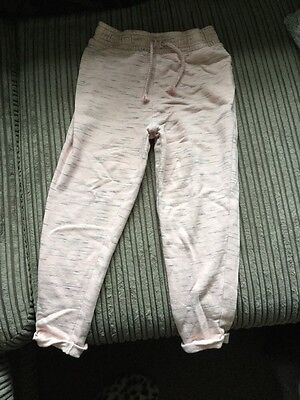Girls Pink Marl Joggers Age 5 From Next