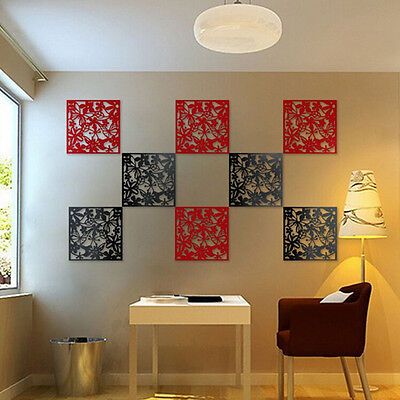 1x Butterfly Flower Hanging Screen Room Divider Partition Wall Home Sticker