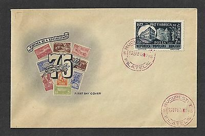 Romania 1948 First Day Cover Bucharest Philatelic Cachet