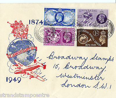 1949 UPU - Illustrated Harris Strand Cover - Pitsea CDS