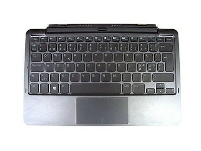 Genuine Dell Venue 11 Pro Mobile Keyboard K12A Battery NORDIC Layout YDG68 Used