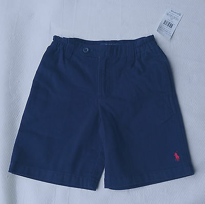 Ralph Lauren Boy's NAVY Chino SHORTS Size 4 or 6 Years NWT 4T 6T Vintage Varsity