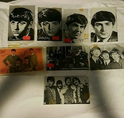 LOT of 8 BEATLES thick stock Photo Cards