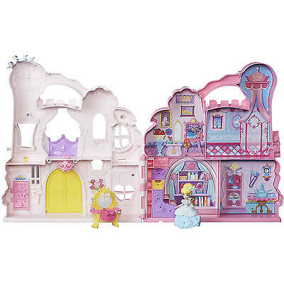 Disney Princess Little Kingdom Play Carry Pink Castle Girls Toys Kids Cinderella