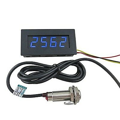 DIGITEN 4 Digital LED Tachometer RPM Speed Meter+Hall Proximity Switch Sensor...