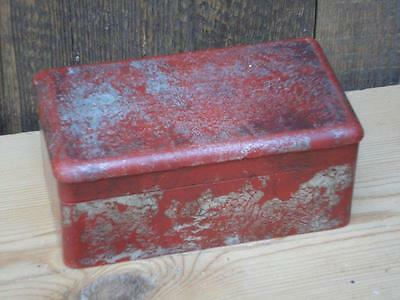 Vintage Aluminium Box Leather Inserts Collectable