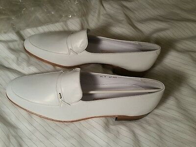 New  Bally Men's White Oliver Loafers,  Size 9.5 M, Shoes