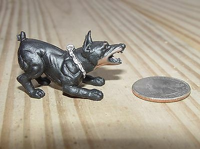 Doberman Snarling G Scale 1/18Th Or 1/24Th Scale Diorama Accessory!