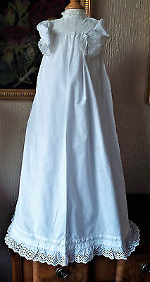 Vintage Baby Christening Gown/lacey Bodice