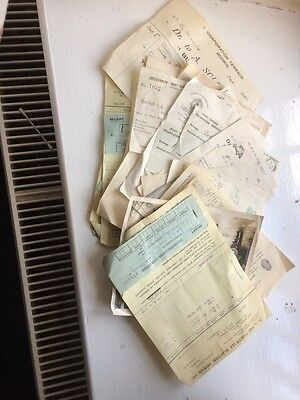 Bundle Of Old Receipts Mostly Bodmin