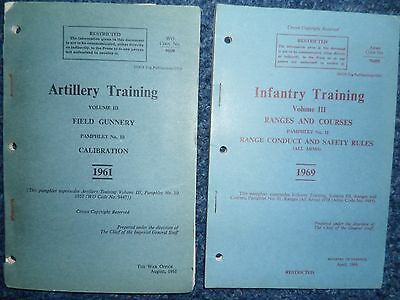 British Army Infantry/Artillery Training Manuals - Field Gunnery, Ranges
