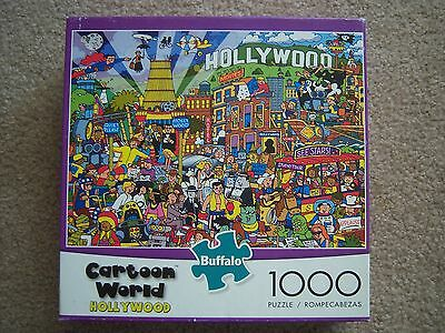 Buffalo 1000 Pc Puzzle Cartoon World Hollywood Complete REDUCED