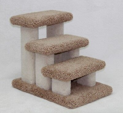 Beatrise Pet Products Doggie Carpeted 3 Step Pet Stair