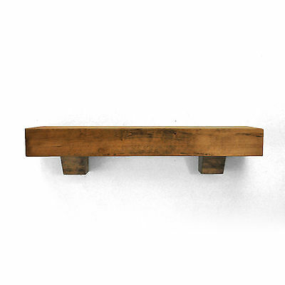 Dogberry Collections Farmhouse Fireplace Mantel Shelf