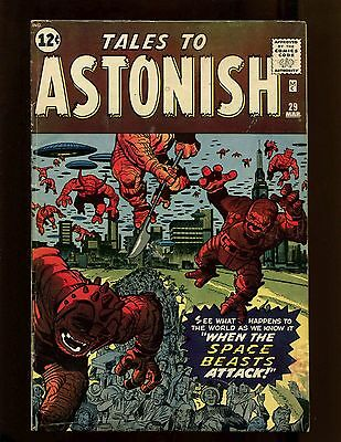 Tales to Astonish #29 VGFN Kirby Ayers Ditko Attack of the Space Beasts