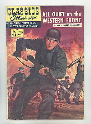 Classics Illustrated #95 HRN 96 (Original) VGFN All Quiet on the Western Front