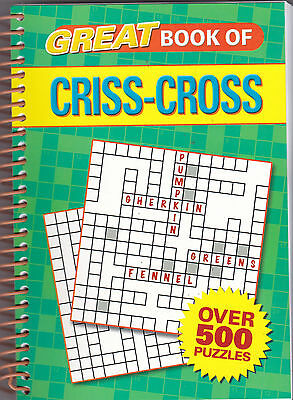 Criss Cross Book, Over 500 Puzzles, New