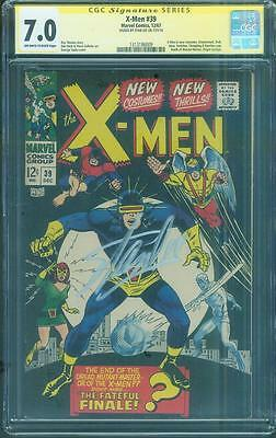 X Men 39 CGC 7.0 SS Stan Lee Signed 1st new costumes Mastermind 1967 Don Heck
