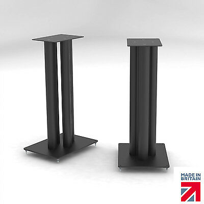 "Divine Audio Dick 31"" 785mm Speaker Stands, Black (Pair) With Cable Management"